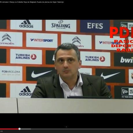 RdP Entrenadores Euroleague Top16: Barcelona-Estrella Roja